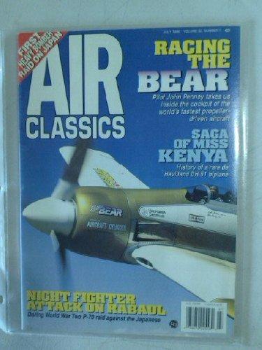Air Classics Magazine July 1996 Vol 32 No.7   * First Heavy Bomber Raid on Japan * Night Fighter Attack on Rabaul  * Saga of Miss Kenya
