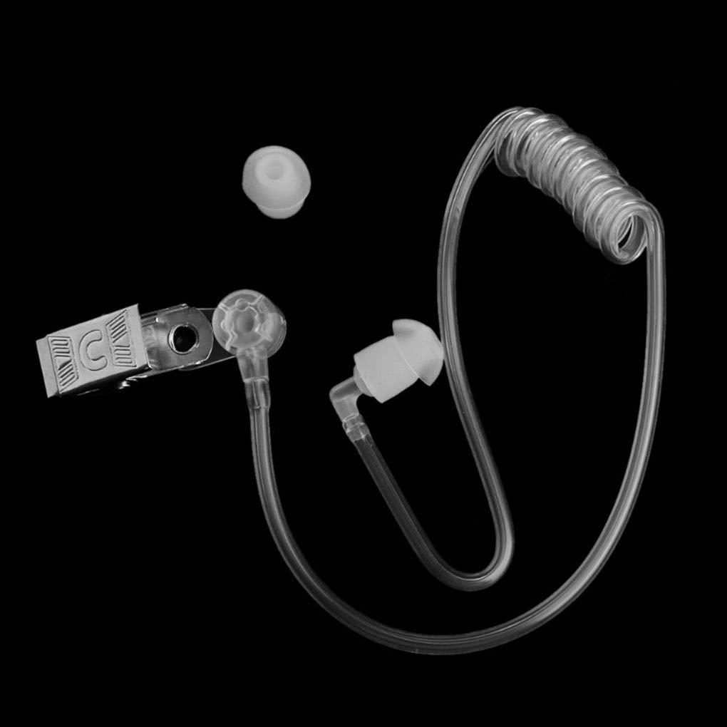Morza Transparent Bobine Acoustique Air Tube Earplug Remplacement de Clip en m/étal pour Radio bidirectionnelle Talkie-walkie Oreillette Casque