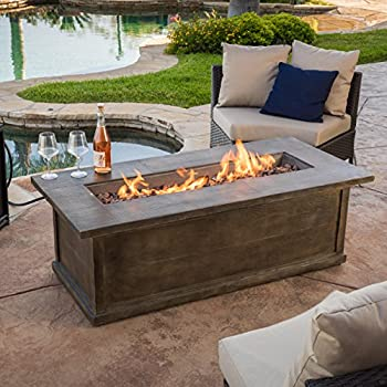 Superb This Item Brown Rectangular Liquid Propane Fire Table Parts Pit And Chairs  Set Diy Outdoor