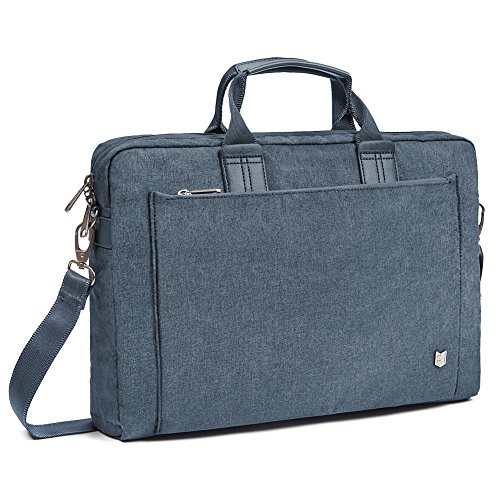 Evecase City 15 - 15.6 inch Laptop Briefcase Messenger Bag, Professional Water Resistant Business Laptop Shoulder bag for Apple ASUS Acer Samsung Dell Lenovo Chromebook Ultrabook and More - Navy Blue - Edge Pro Compact