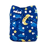 ALVABABY Cloth Diaper One Size Adjustable Reuseable Washable Boys Nappy Diapers One Pack with 2 Inserts H097
