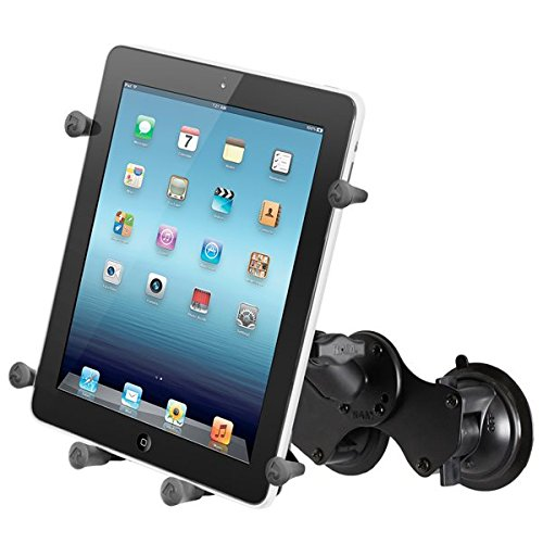 RAM Mounting Systems RAM MOUNT DOUBLE SUCTION CUP MOUNT W/ X-GRIP III HOLDER by RAM