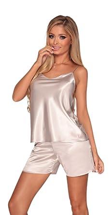 Short Pyjama De Satin Monochrome Femme Simple Et Veste Vetements En WOxTxH1qw