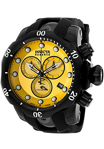 Invicta Men's 5736 Reserve Collection Black Ion-Plated Chronograph Watch Black Ion Chronograph Watch