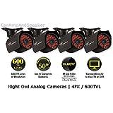 Night Owl Security CAM-4PK-600 4-Pack of Hi-Resolution 600 TVL Security Cameras 36 Cobalt Blue LED