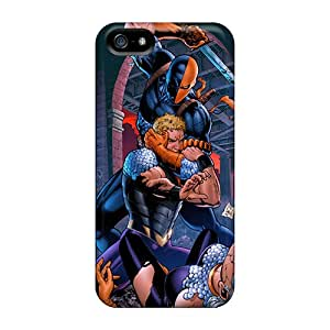 AlainTanielian Apple Iphone 5/5s Shock-Absorbing Hard Cell-phone Case Allow Personal Design Colorful Deathstroke I4 Pattern [lXU22818DhsN]