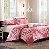 Folklore Raspberry Big Print Comforter Set Size: Twin/Twin Extra Long
