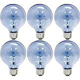 GE Lighting 48694 Reveal 40-watt 265-Lumen G25 Light Bulb with Medium Base, 6-Pack