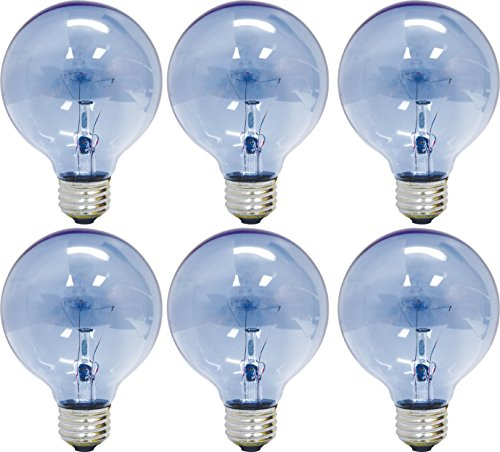 - GE Lighting 48694 Reveal 40-watt 265-Lumen G25 Light Bulb with Medium Base, 6-Pack