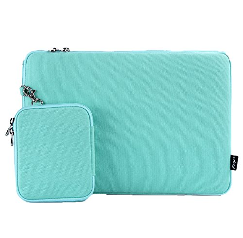 FYY Macbook Pro Case - Lightweight Soft Laptop Sleeve Case Bag with Additional Pocket for Apple Macbook Pro 13 inch /Macbook Air 13 inch / Laptop up to 13.3 inch Mint Green