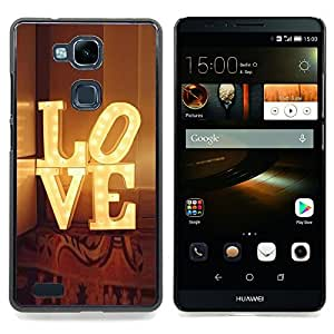 For HUAWEI Ascend Mate 7 - theatre Broadway lights text /Modelo de la piel protectora de la cubierta del caso/ - Super Marley Shop -