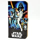 Retro A New Hope Movies R2-D2 Darth Vader Characters Pattern Leather Wallet Credit Card Holder Pouch Flip Stand Case Cover For Apple iphone 6 Plus,6S Plus 2015 New