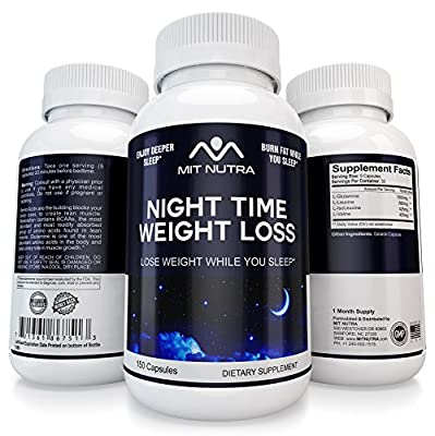 LOSE WEIGHT WHILE YOU SLEEP - NIGHT TIME PM DIET PILLS, FAT BURNER, METABOLISM STABILIZER - WAKE UP FEELING FRESH AND HAPPY by MIT NUTRA