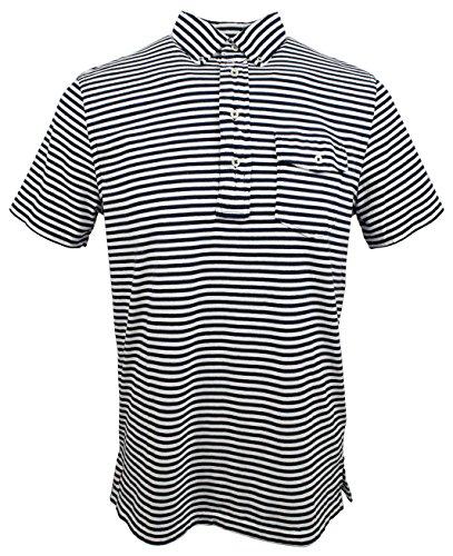 (Polo Ralph Lauren Men's Classic Fit Short Sleeve Striped Polo Shirt-WN-XL)