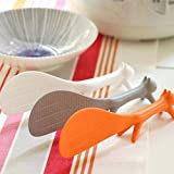 Scoop Spoons Rice Paddle Stander Nonstick Korean Style High Quality 3 Color Color:White