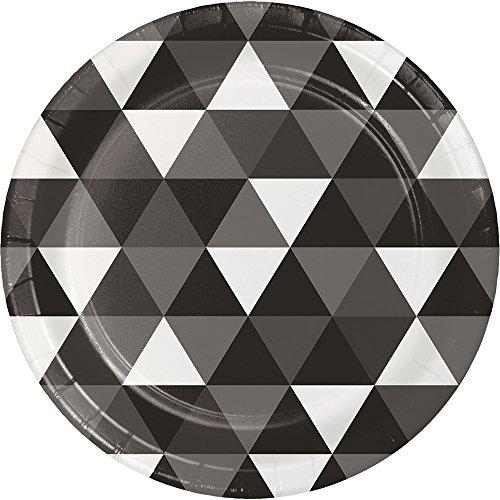 Creative Converting 324469 96 Count Dessert/Small Paper Plates, Fractal Black Velvet