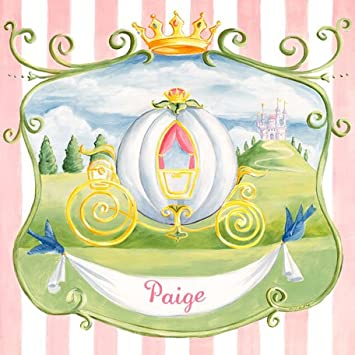 Amazon.com : Oopsy daisy Princess Coach Canvas Wall Art by Colleen ...