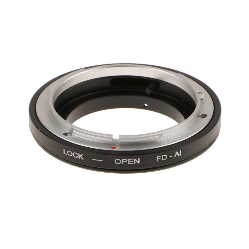 SM SunniMix Adaptador de Montaje de c/ámara de Metal Adaptador de Lente Adaptador Anillo para Canon FD a Nikon AI//F