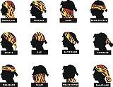 KALILY 9PCS Headband Bandana - Versatile American