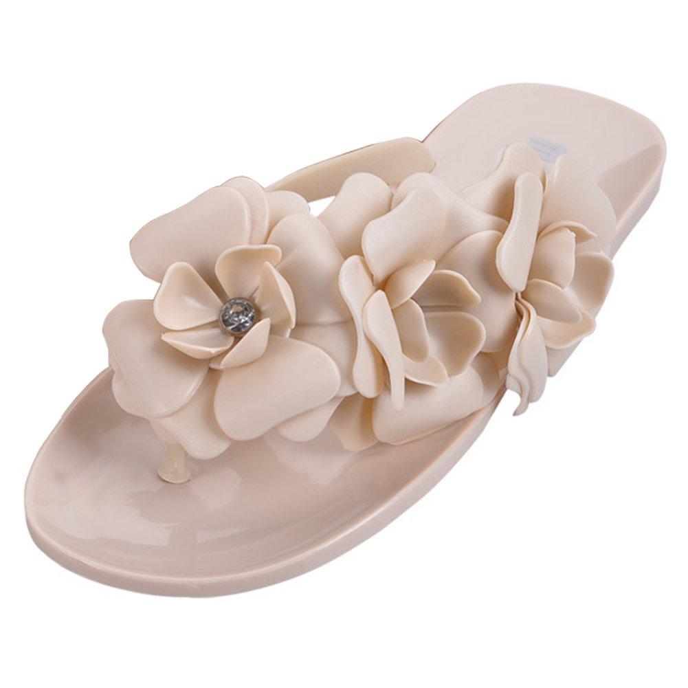 Minetom Damen Camellia Flip Flops Strand Sommer Pantoffel Zehentrenner Gummischuhe EU Größe ( Gelb EU 36 ) 0jR1r0hTWW