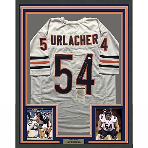 newest collection 5734e 0622f Signed Brian Urlacher Jersey - FRAMED 33x42 White COA - JSA ...