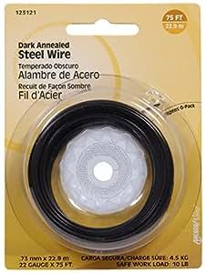 The Hillman Group 123121 22 Gauge Dark Annealed Wire, 1-Pack