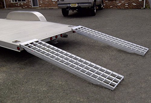 Five Star Aluminum Trailer Ramps Mfg In The USA - 6ft.L x 16in.W, 5,000 lb. Capacity Per Pair