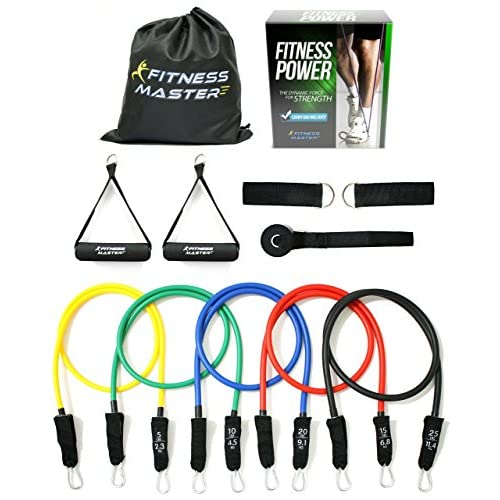 Resistance Bands – Tension Band Set for Weights Exercise, Fitness Workout – Heavy Anti Snap Resistant – Comes with Door Anchor Attachment, Legs, Ankle Straps and Carry Case 51oVZr 2BWHRL