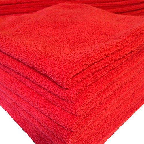 20 PACK NEW MICROFIBER TOWELS CLEANING TOWEL RED 16