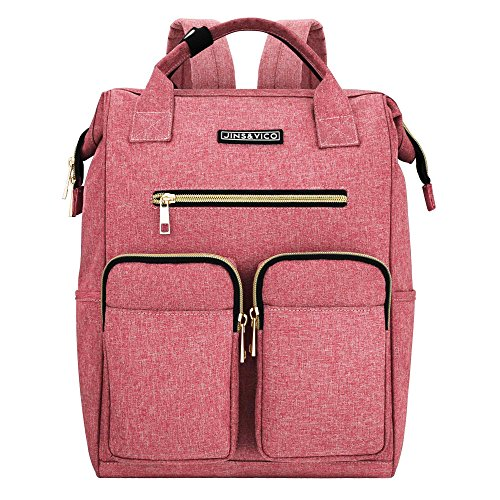 (Laptop Backpack for Women, Lightweight Womens Travel Backpack Wide Open Backpack Large Capacity for Girls Travel School Multipurpose Use Daily Carry Backpack (Pink))