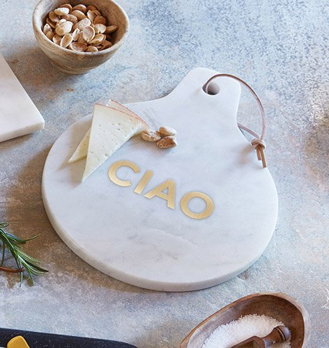 Set of 2 Marble Cheese Board White - CIAO by AT001
