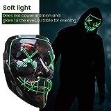 GLIME Halloween LED Mask Light Up Scary Mask EL