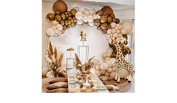 124pcs Pastel Macaroon Cream Peach Skin Balloons Garland Arch Kit Retro Coffee Ballon Wedding Birthday Baby Shower Party Decor Set Amazon Ca Home Kitchen