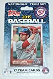2015 Topps Washington Nationals Factory Sealed Special Edition 17 Card Team Set with Bryce Harper Stephen Strasburg Plus