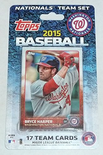 2015 Topps Washington Nationals Factory Sealed Special Edition 17 Card Team Set with Bryce Harper Stephen Strasburg Plus - Washington Nationals Card