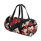 Sugar Skull Dia De Los Muertos Travel Duffel Shoulder Bag, Sports Gym Fitness Bags