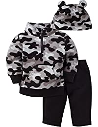 Gerber Baby Boys' 3 Piece Micro Fleece Top Cap and Pant Set