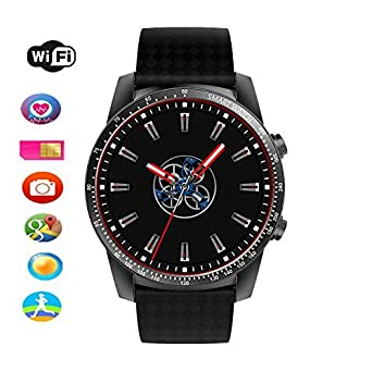 Amazon.com: T.Face KW99 Smart Watch Phone 3g Wifi Gps Watch Men Mtk6580 Bluetooth Smartwatch Heart Rate Wristband Android Sim Watch Phone Pk Kw88 (Black): ...