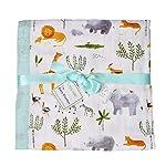 Muslin-Stroller-Blanket-Jungle-Print-Bamboo-Summer-Blanket-for-Toddler-Oversized-47-x-47-2-Layers-Muslin-Baby-Blanket-for-Baby-Boy-and-GirlJungle