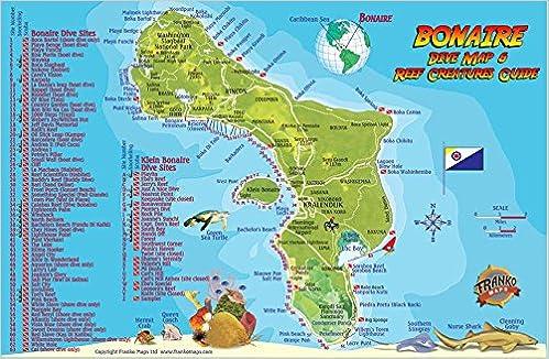 Bonaire Dive Map Reef Creatures Guide Franko Maps Laminated Fish - Amazon maps