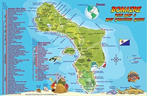 Bonaire Dive Map & Reef Creatures Guide Franko Maps Laminated Fish Card