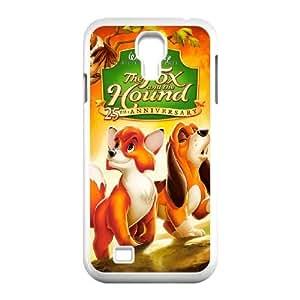 Samsung Galaxy S4 9500 White phone case Disney Cartoon Fox and the Hound EYB3563617