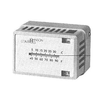 Johnson controls T-4000 – 3142 neumático termostato, color blanco