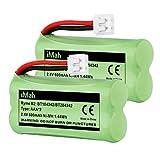 iMah BT184342/BT284342 BT18433/BT28433 Phone Battery Compatible AT&T BT184342 BT18433 BT1011 BT1018 BT1022 BT1031 BT8300 CS6209 CS6219 CS6228 CS6229 Vtech DS6301 CL80109 CS6209 TL90078, Pack of 2