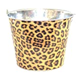 Galvanized Cheetah Ice Bucket