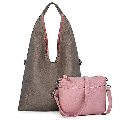1f5bc96b97 UTO Women Hobo Purse Large Capacity 2 Pcs Crossbody Shoulder Bags Strap