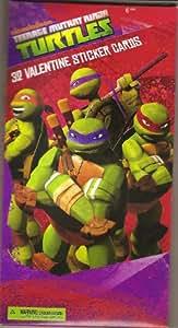 Nickelodeon Teenage Mutant Ninja Turtles Valentine's Day Cards (32 Sticker Cards Included)