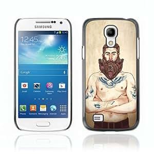 Designer Depo Hard Protection Case for Samsung Galaxy S4 Mini / Tough Tatto Man