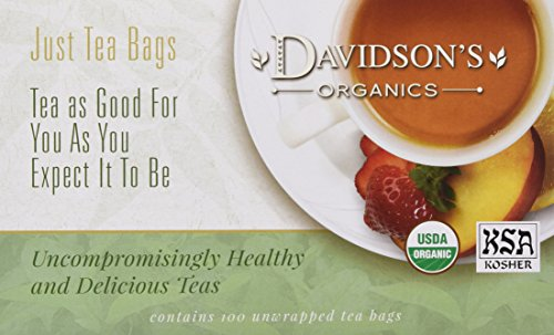 Original Tulsi Tea - Davidson's Tea Tulsi Pure Leaves, 100-Count Tea Bags