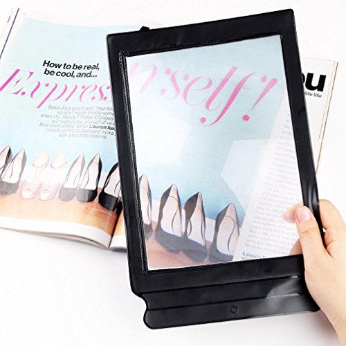 Finlon 3X A4 Full Page Large Sheet Magnifier Magnifying Glass Reading Aid Lens Fresnel
